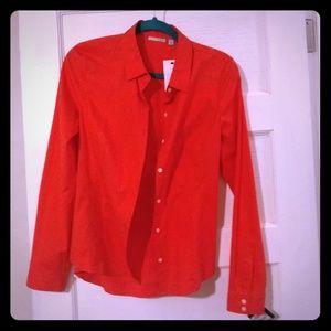 Halogen NWT orange tailored shirt